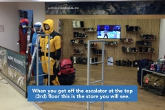 When you get off the escalator at the top (3rd) floor this is the store you will see.