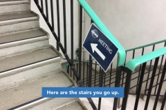 Here are the stairs you go up.